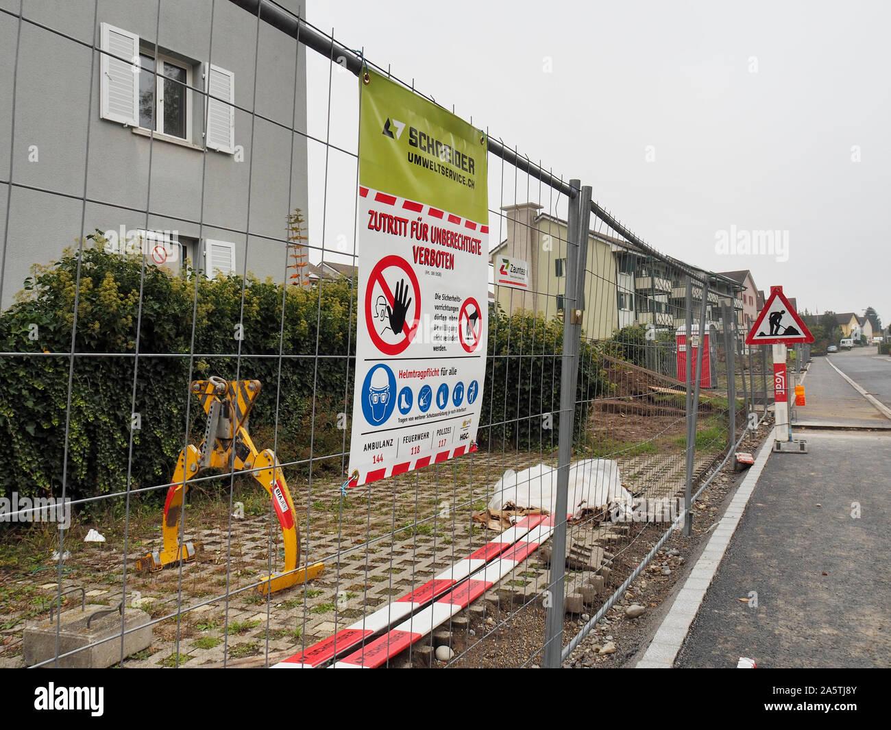Baustelle en Regensdorf ZH Foto de stock