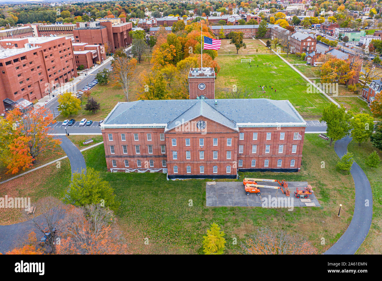 Springfield Armory National Historic Site, Springfield, Massachusetts, EE.UU. Foto de stock