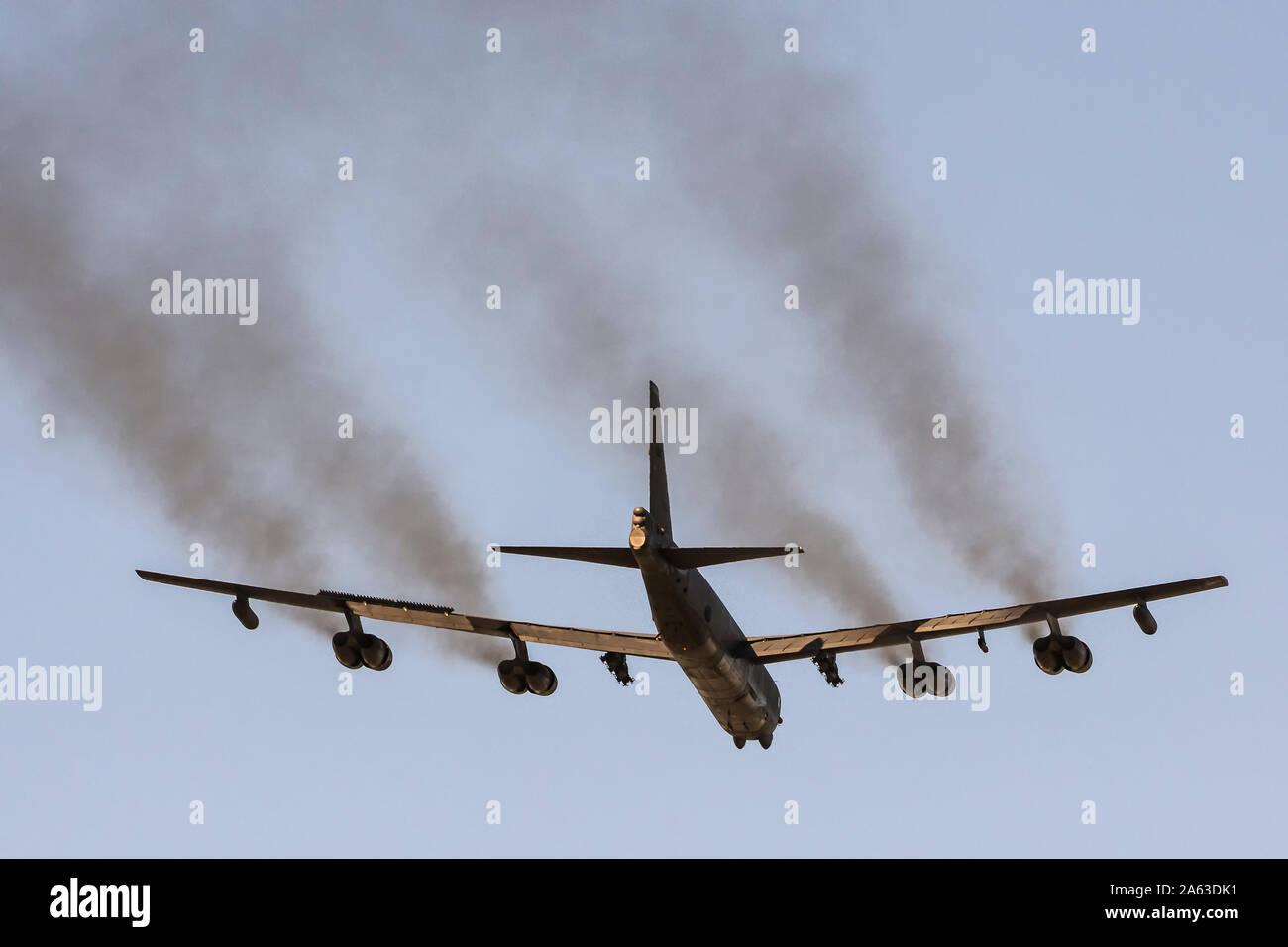Boeing B-52 Stratofortress durante deplyment en RAF Fairford Foto de stock