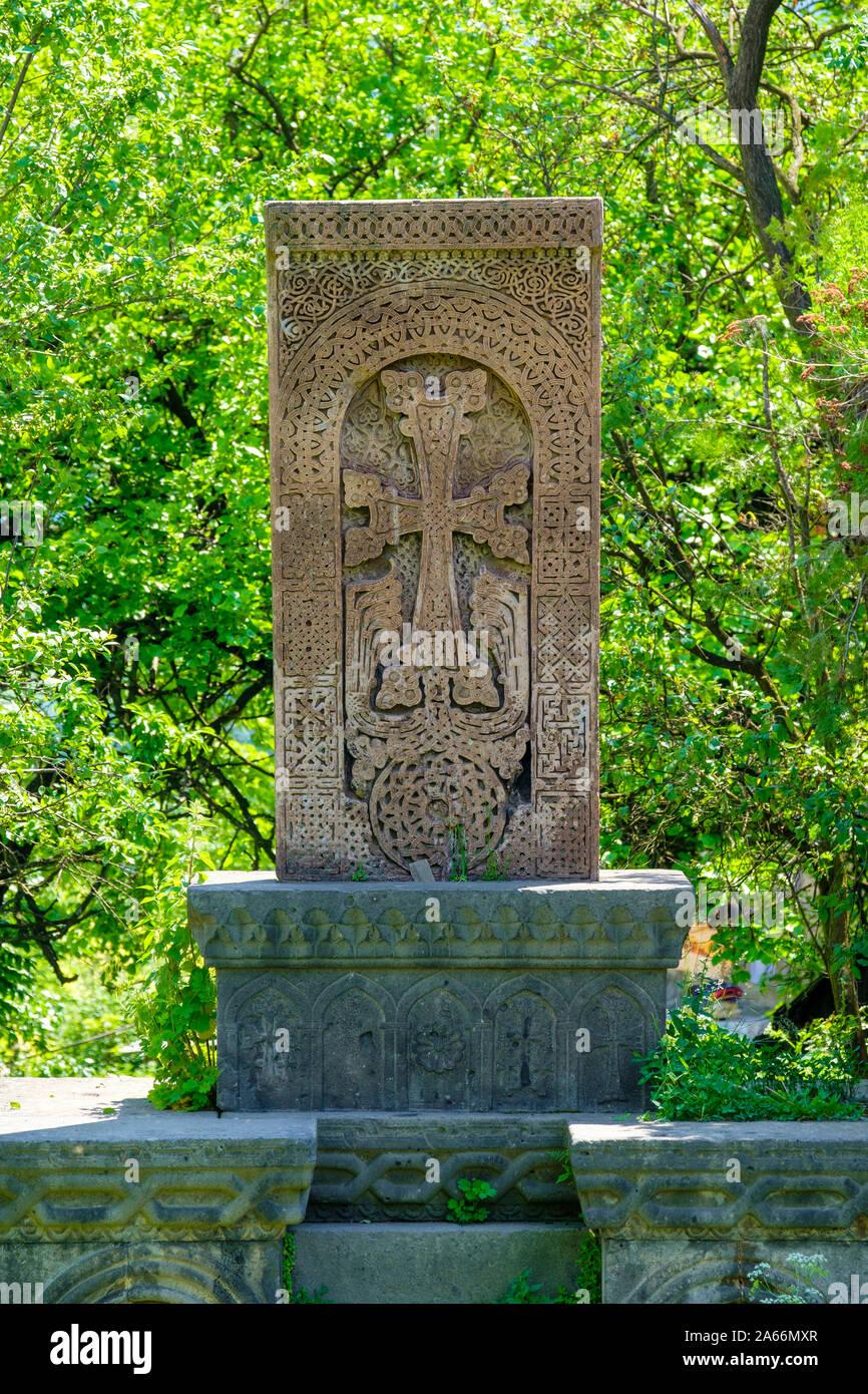 En Khachar Sanahin Monasterio, Sitio del Patrimonio Mundial de la UNESCO, Alaverdi, Lori provincia armenia Foto de stock