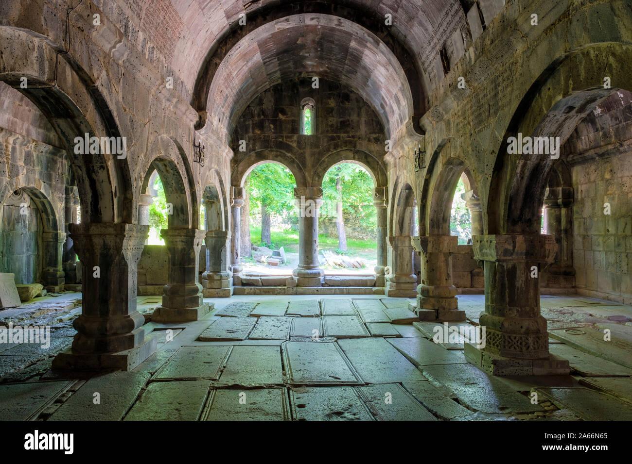Sanahin Monasterio, Sitio del Patrimonio Mundial de la UNESCO, Alaverdi, Lori provincia armenia Foto de stock
