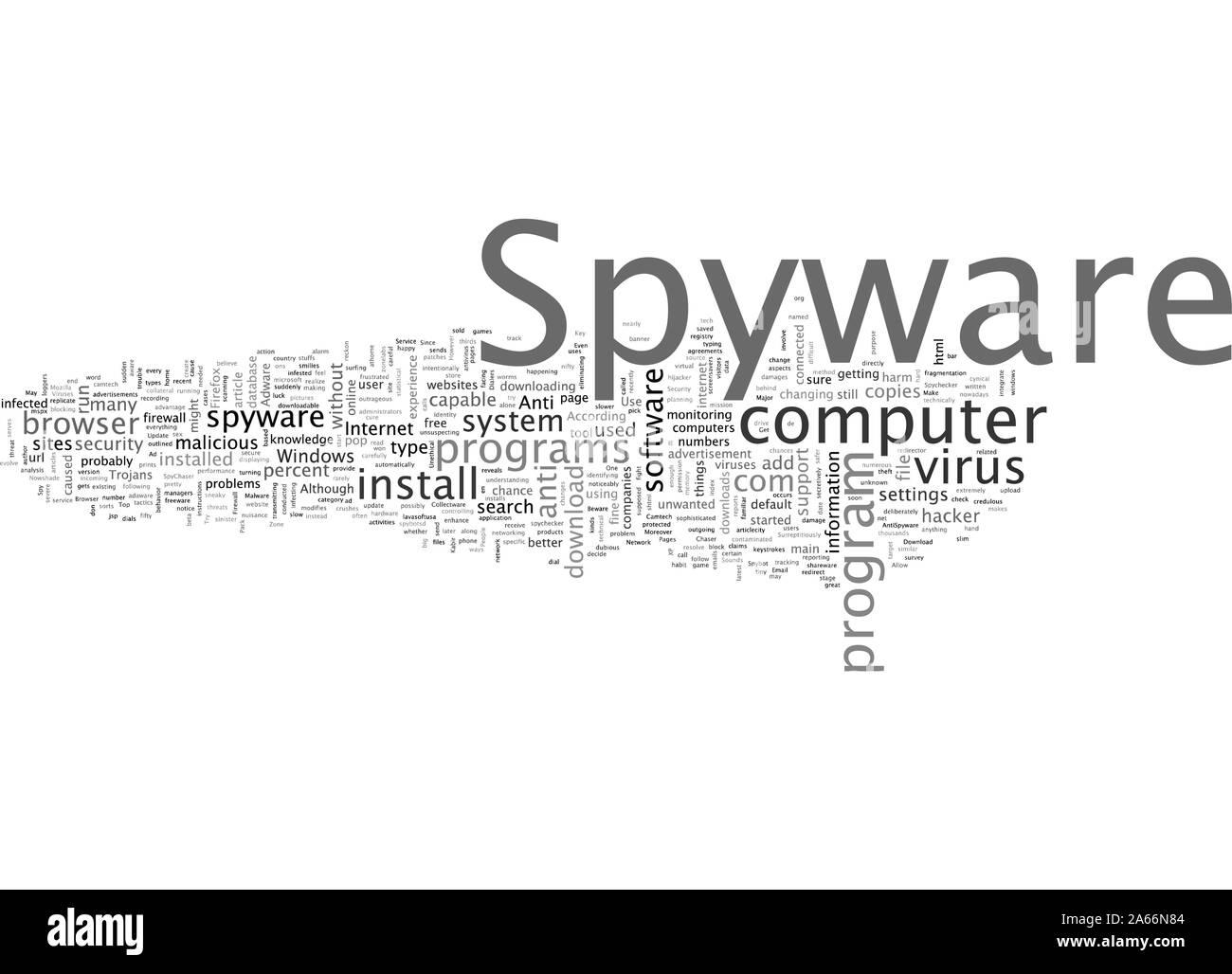 Cuídese de Spyware Ilustración del Vector