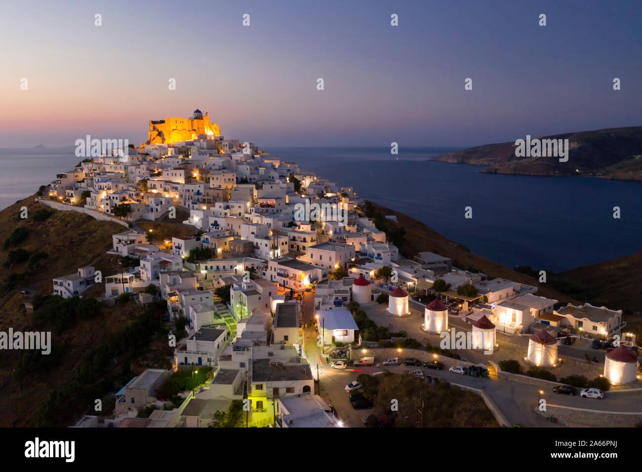 Grecia, Islas del Dodecaneso, Astypalaia, Chora Astypalaia (Astypalaia Ciudad) Foto de stock