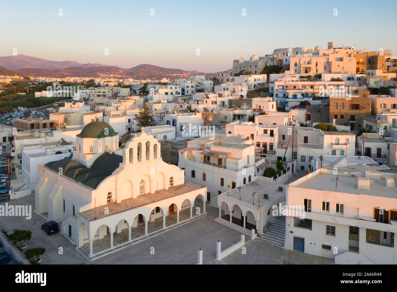 En Grecia, en las islas Cícladas, de la ciudad de Naxos, el Templo de Apolo Foto de stock