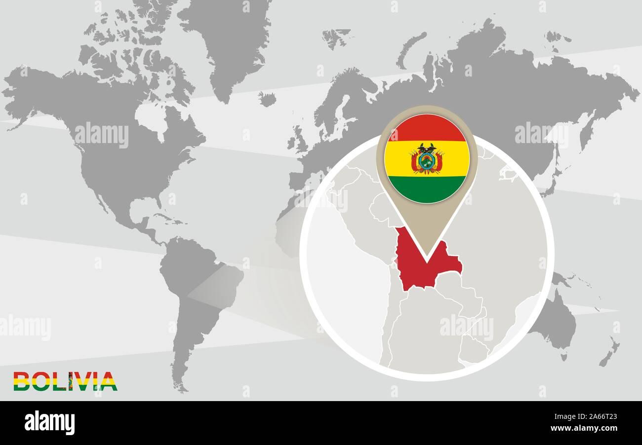 Mapa Mundial Con Magnificados En Bolivia Bolivia Bandera Y Mapa Imagen Vector De Stock Alamy Mapas mudos con países por continentes. https www alamy es mapa mundial con magnificados en bolivia bolivia bandera y mapa image330835515 html