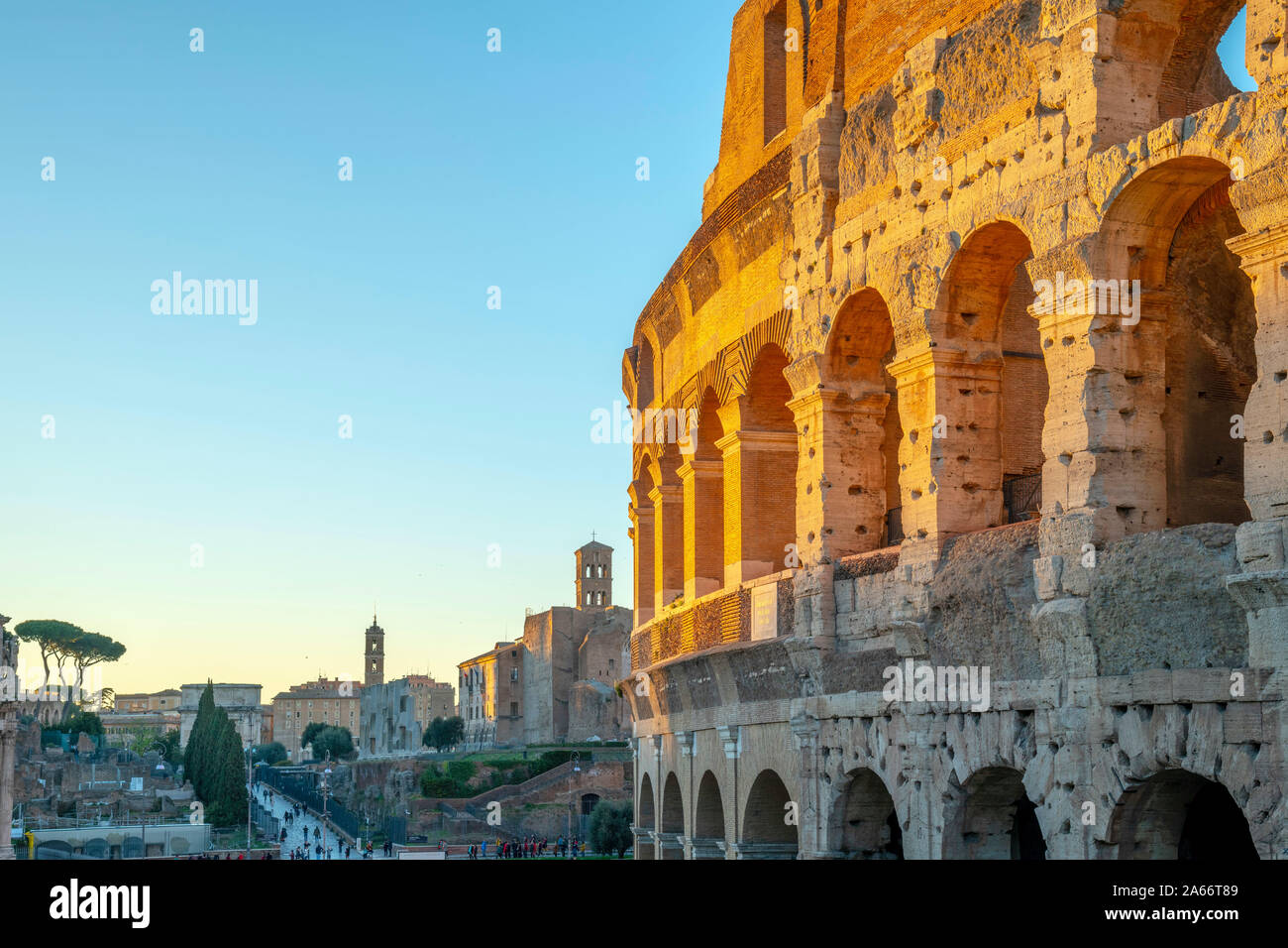 Italia, Lazio, Roma, Coliseo Foto de stock