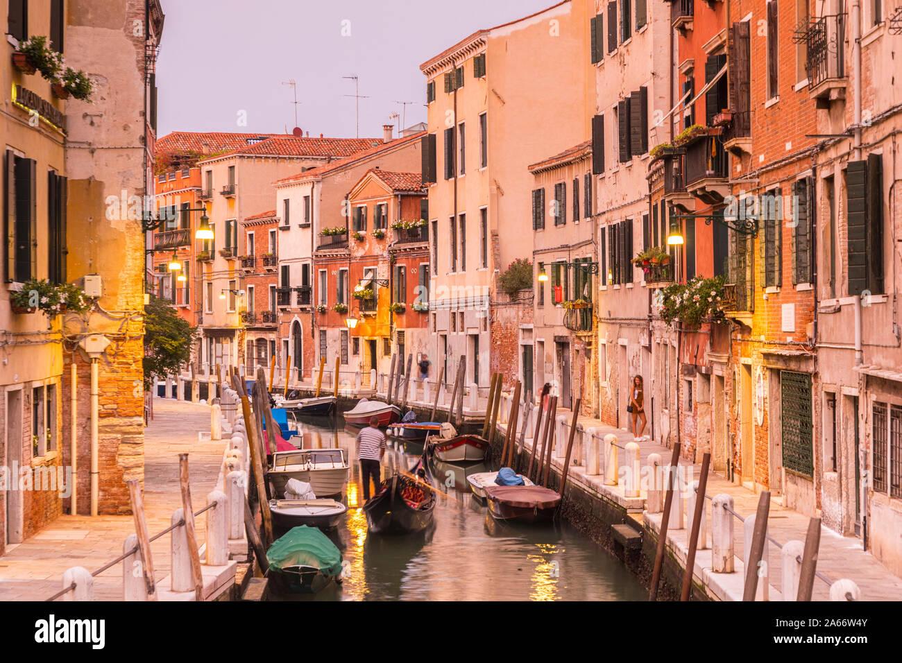 Dorsoduro, Venecia, Véneto, Italia Foto de stock
