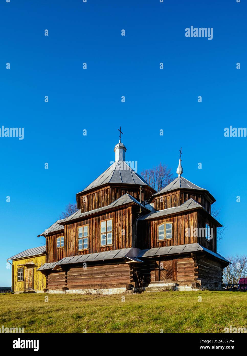 Iglesia greco-católica en Chotylub, Voivodato de Lublin, Polonia Foto de stock