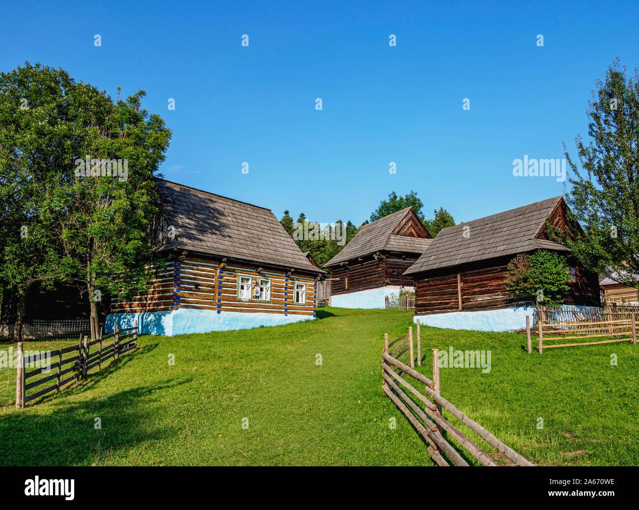Museo al Aire Libre en Stara Lubovna, región de Presov, Eslovaquia Foto de stock