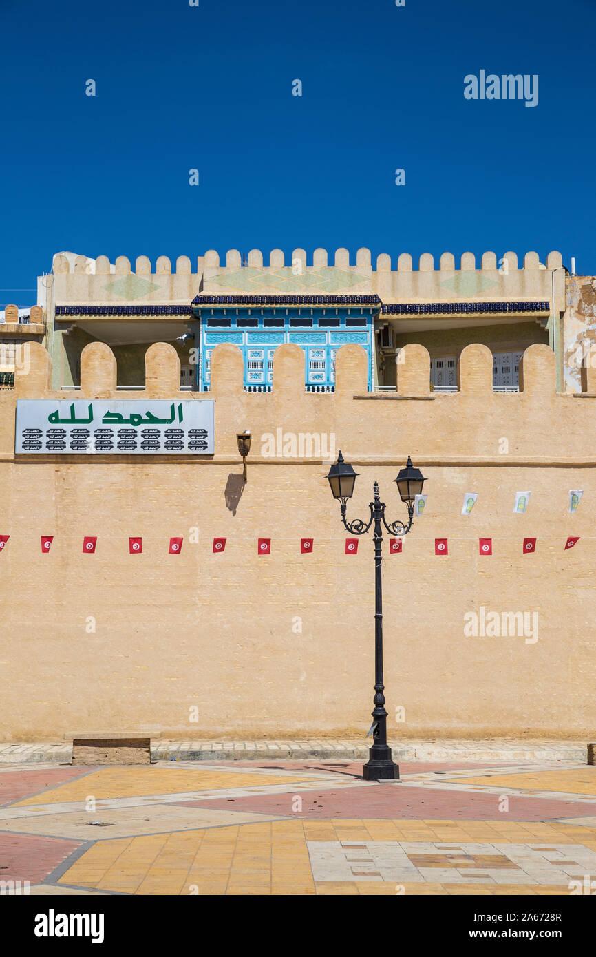 Túnez, Kairouan, Madina paredes Foto de stock