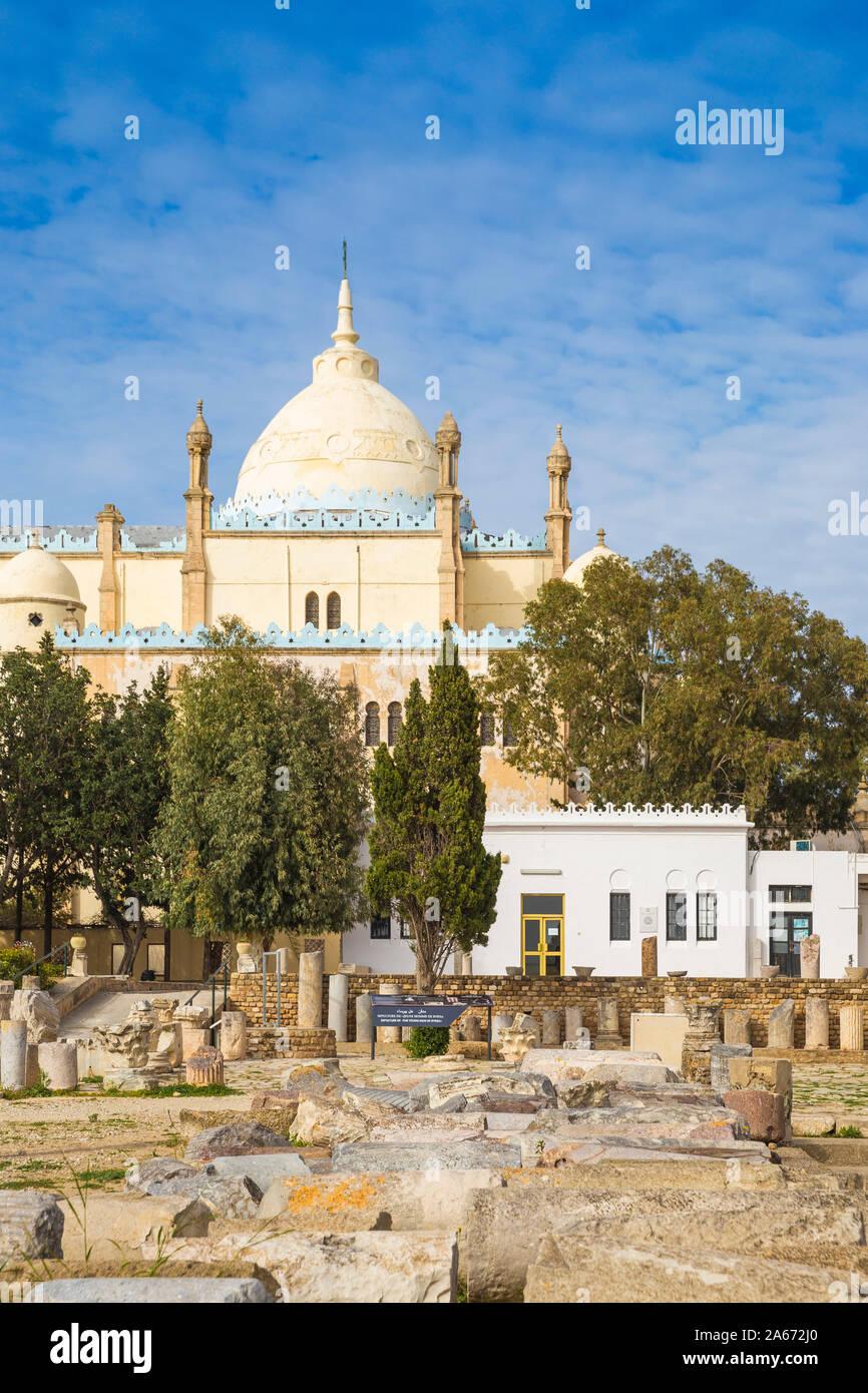 Túnez, Túnez, Cartago, la colina de Byrsa, la Catedral de St Louis. Foto de stock