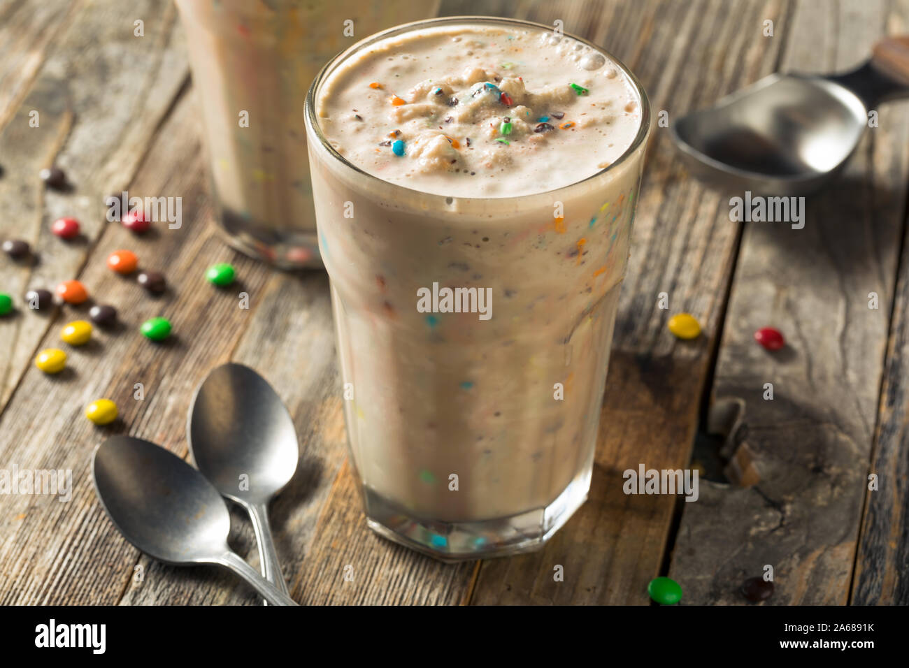 Dulces de chocolate caseras Milk Shake Mezclador Listo para beber Foto de stock