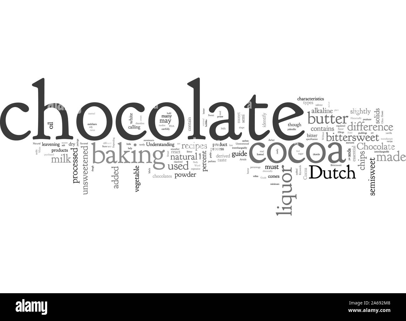 Guía de los panaderos de Chocolate Ilustración del Vector