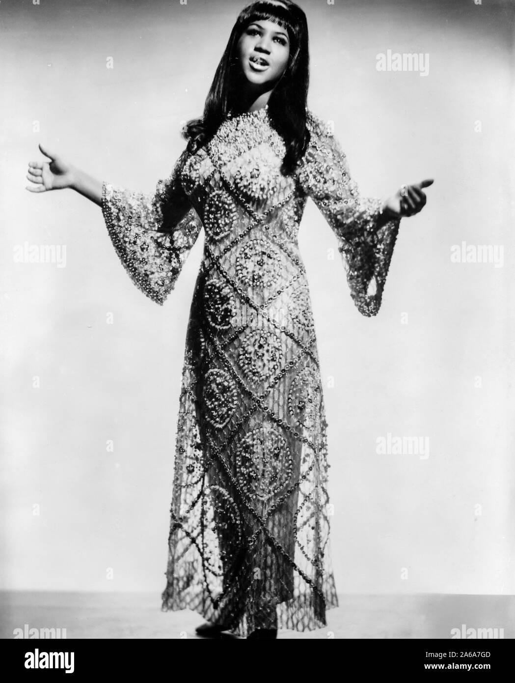 Aretha Franklin, 60s Foto de stock