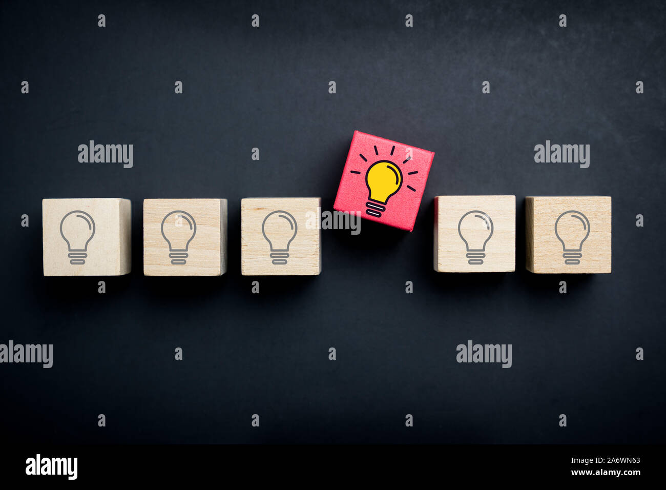 La innovación y la idea creativa de concepto Foto de stock