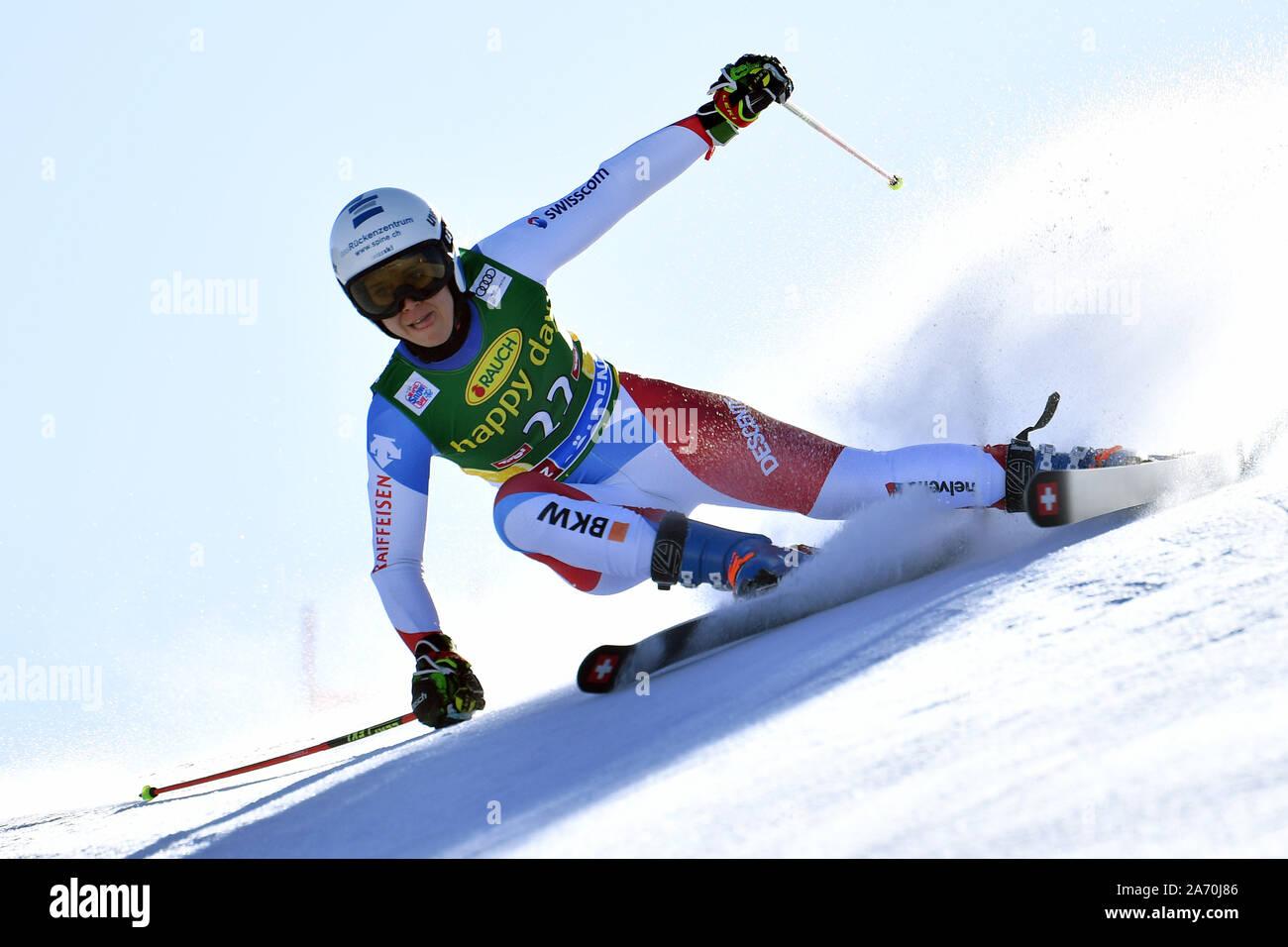 """Andrea ELLENBERGER (SUI), Acción, slalom gigante Damas, slalom gigante"""". Copa del Mundo de Esquí alpino, en Soelden en el glaciar de Rettenbach, Rettenbachferner, temporada en 2019/2020, 19/20, de 26.10.2019. Uso   en todo el mundo Foto de stock"""