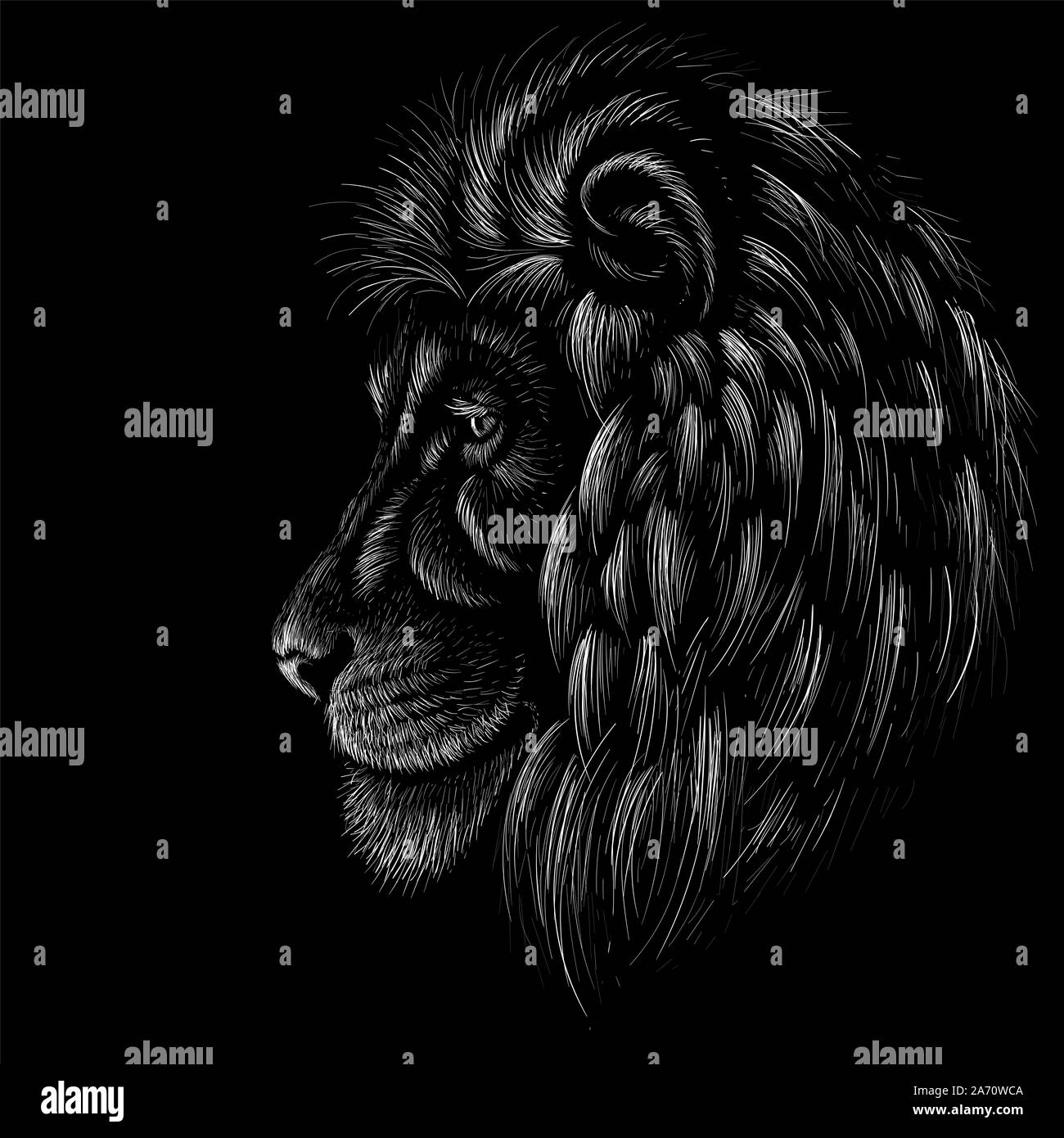 Como Hacer Un Diseño Para Tatuaje el vector logo león para tatuaje o t-shirt de impresión o de