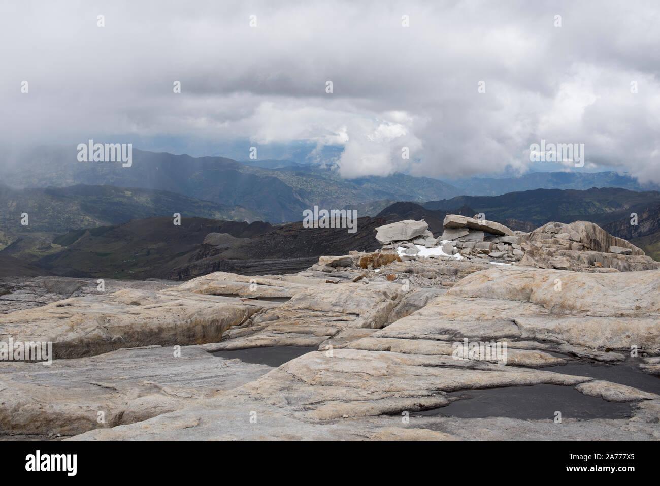 El Cocuy, Colombia. Clima salvaje a gran altitud Foto de stock