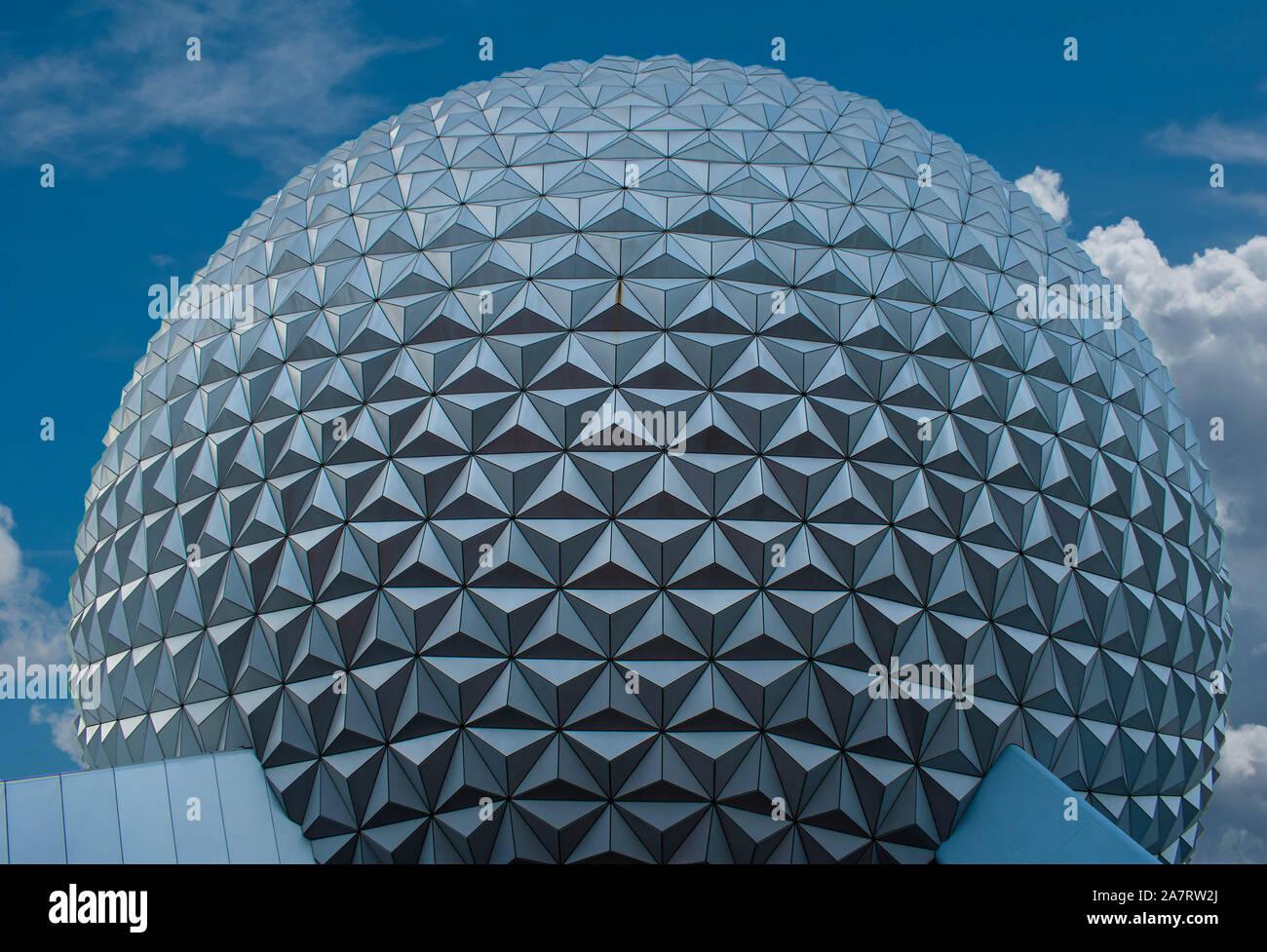Orlando, Florida. Noviembre 01, 2019. Vista superior de la esfera a Epcot (3) Foto de stock