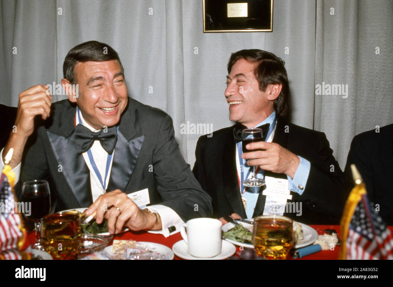 """25 DE JUNIO: American periodista deportivo Howard Cosell (1918-1995) habla en el """"Banquete de la plancha de oro' el 25 de junio de 1972. (Foto por Hy Peskin) *** Local Caption *** Howard Cosell Foto de stock"""
