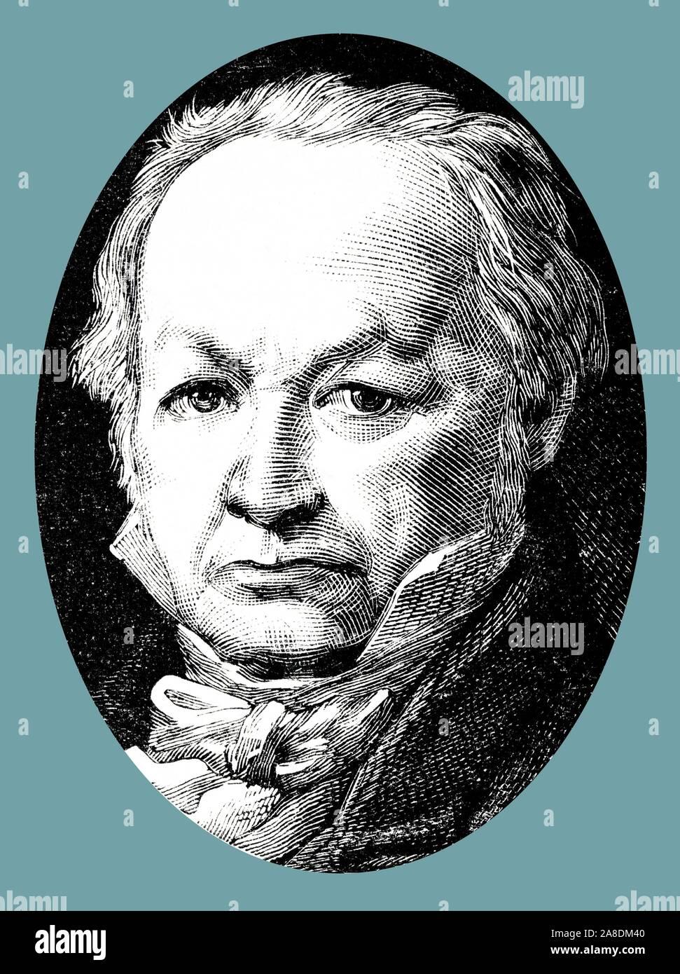 Francisco de Goya Lucientes (1746-1828), pintor y grabador español. Grabado de 1877. Foto de stock
