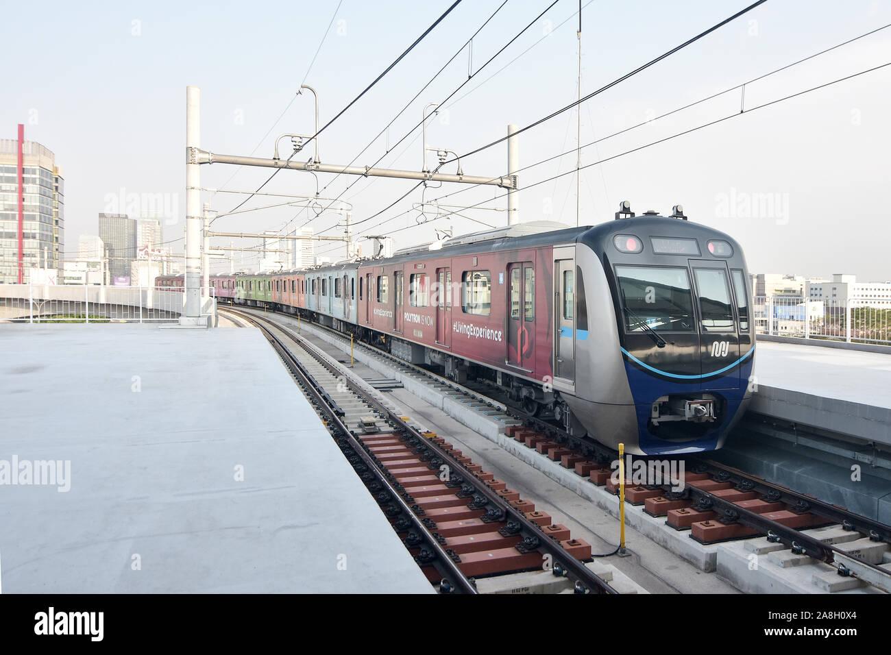 Yakarta, en tren MRT station fatmawati Foto de stock