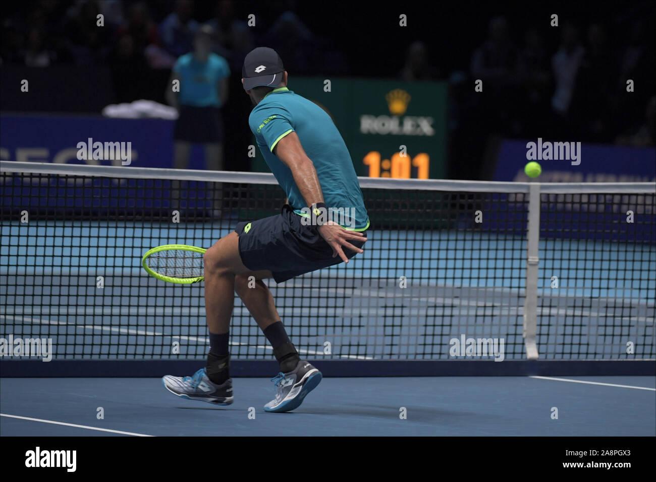 Londres, Italia. 10 Nov, 2019. berettini durante Nitto finales ATP - Tenis Internationals - Crédito: LPS/Roberto Zanettin/Alamy Live News Foto de stock