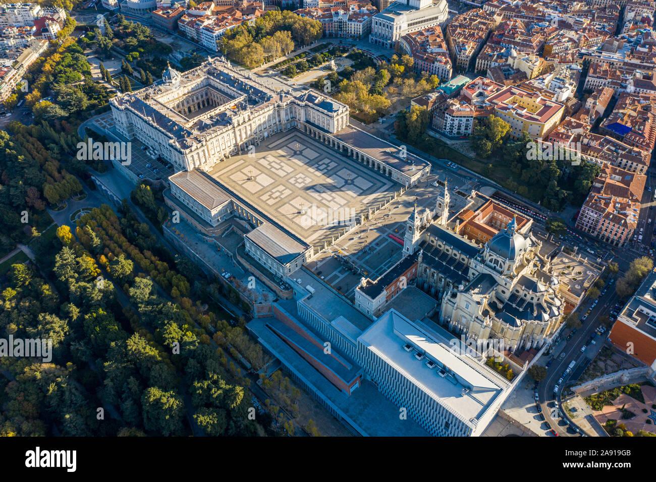 El Palacio Real de Madrid, el Palacio Real de Madrid, Madrid, España Foto de stock