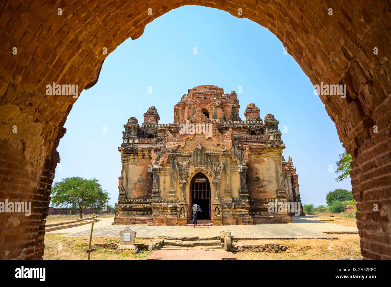 Templo budista; Bagan, Mandalay Región, Myanmar Foto de stock