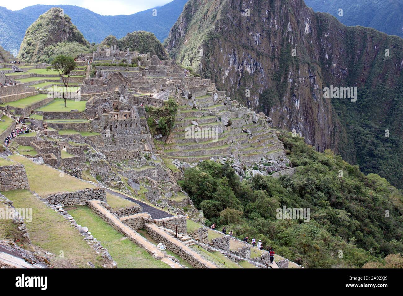 Una Sección De Machu Picchu Incluida La Zona Del Prisionero