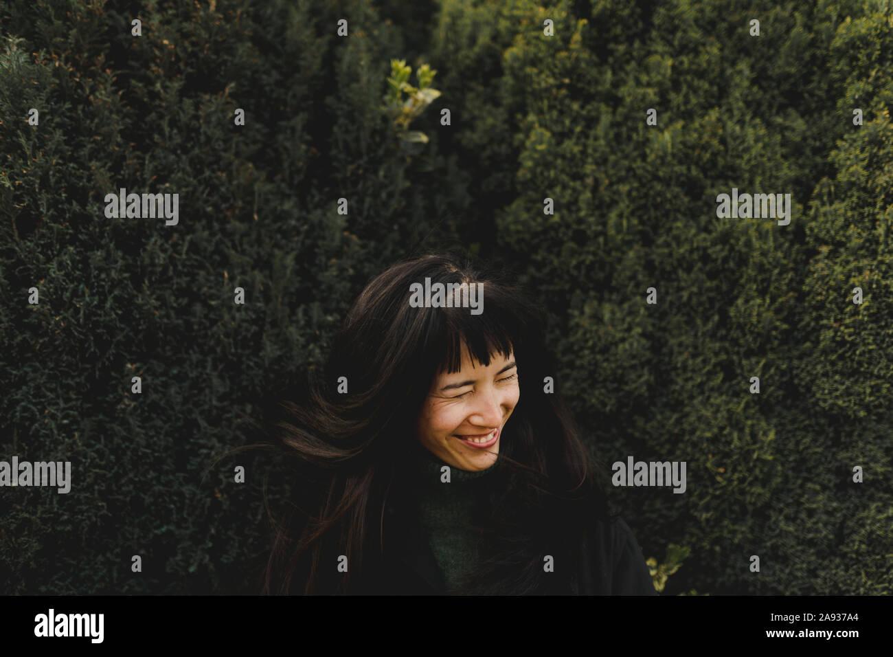 Mujer feliz Foto de stock