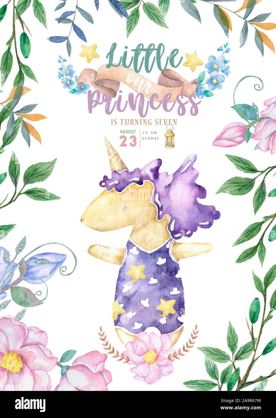 Invitaciones Para Baby Shower Con Lindo Unicornio Es Una