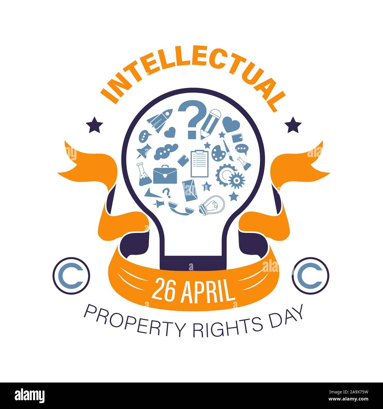 Copyright o derecho de propiedad intelectual día icono aislado Ilustración del Vector
