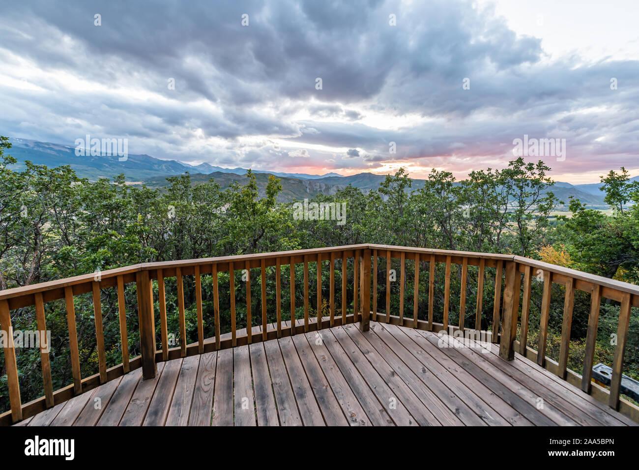 Aspen Colorado Casa Con Vista Desde La Terraza De Madera En