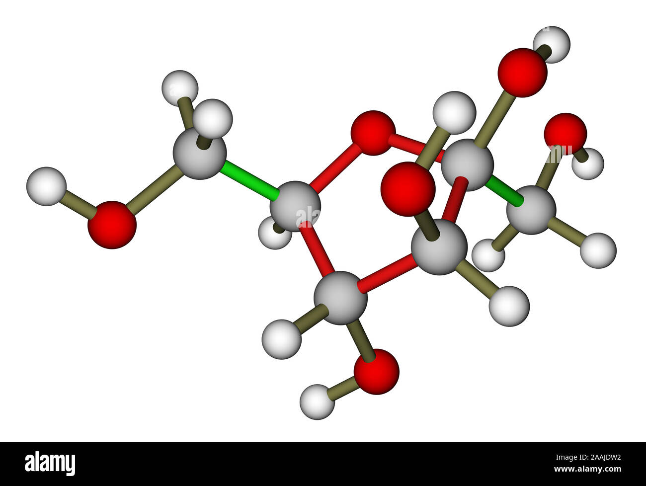Fructosa Estructura Molecular Foto Imagen De Stock