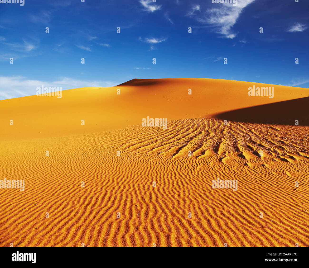 Las dunas de arena del desierto del Sahara, Argelia Foto de stock