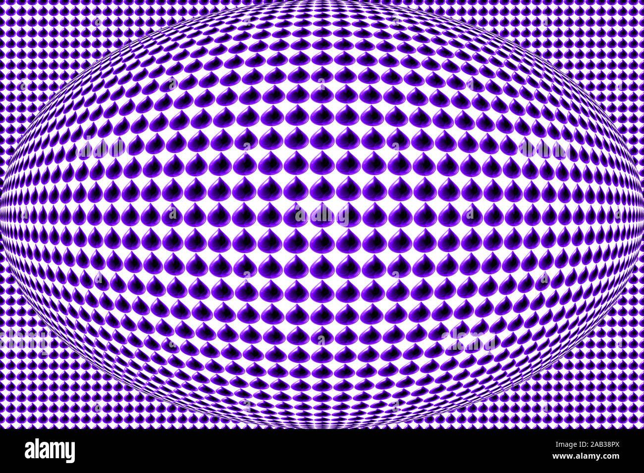 Cruz De Vidrio De Pie-Púrpura y Azul