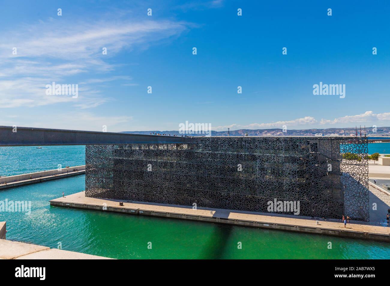 Museo de la civilización europea y mediterránea, Marseille, Bouches du Rhône, Provence, Francia, el Mediterráneo, Europa Foto de stock