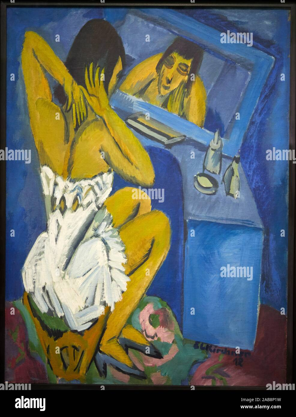 '''Toilette - Frau vor dem Spiegel'', 1913-1920, Ernst Ludwig Kirchner, Centro Pompidou, París, Francia, Europa Foto de stock