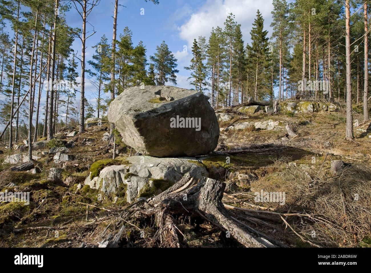 Paisaje en Schweden, Västergotland Foto de stock