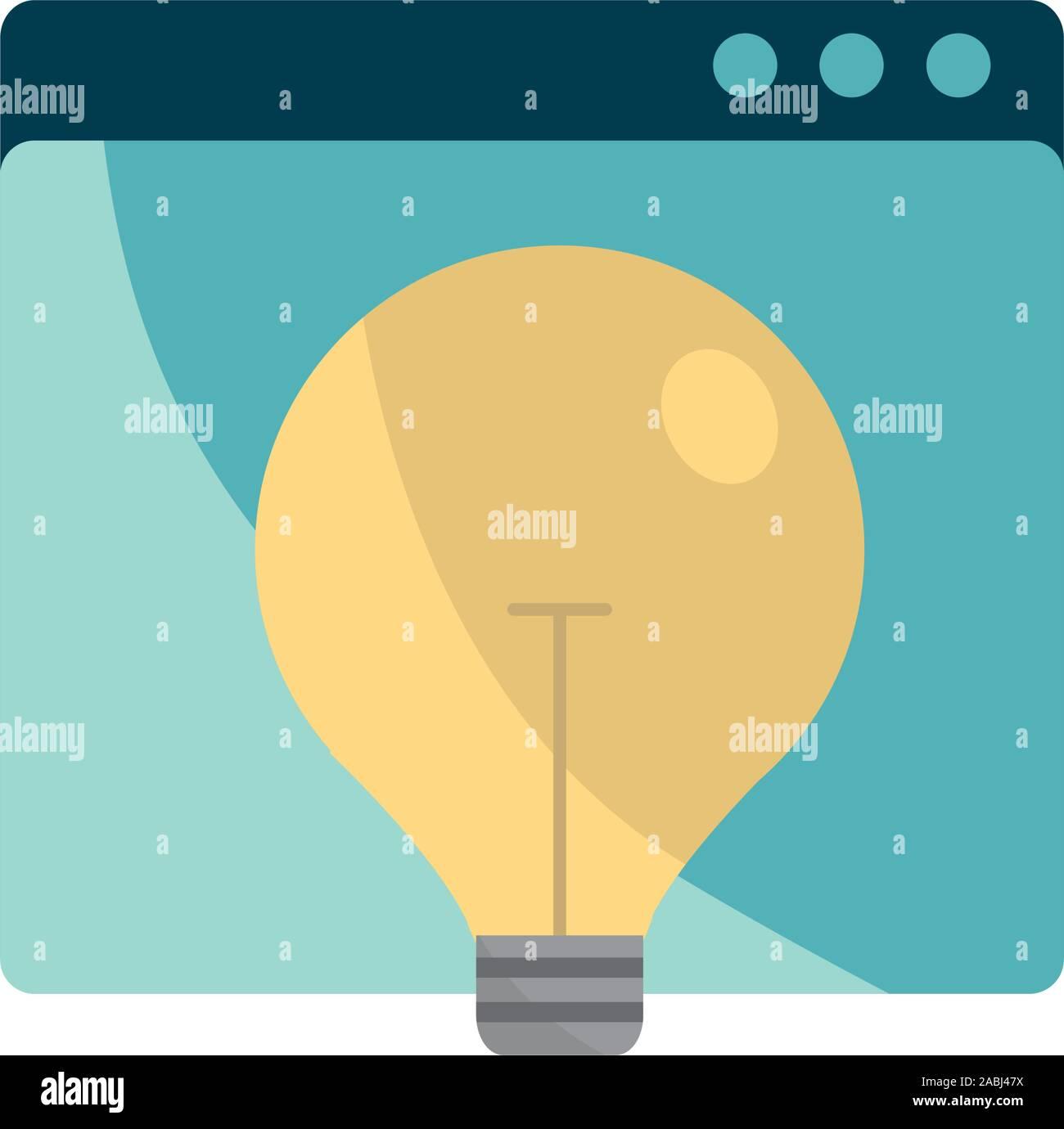 Sitio web creatividad propiedad intelectual copyright icono ilustración vectorial Ilustración del Vector