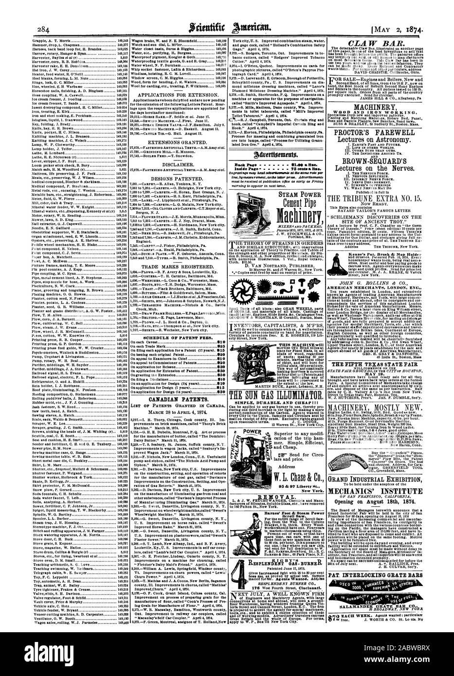 El calendario de las tasas de patentes. Las patentes canadienses. Advertionuttito. Volver a la página anterior 81.01) y flare dentro de la página 75 centavos un dobladillo ESTA MÁQUINA SIMPLE durable y barato !!! Barnes & Steam' pies Power Scroll Saw. Nueva York. BEDIOVAL. La energía de vapor Machillory CLAW BAR. Maquinaria de madera y hierro. PROCTOR'S FAREWELL II. La vida en otros mundos. III. Otros Soles que la nuestra. IV. El infini lazos alrededor de nosotros. Y Brown Sequard es I. LA FUERZA nerviosa. III. Nervio indirectos fuerza. IV. Trastornos nerviosos. V. SUMNER'S sufrimientos comenzará el 19 de mayo. Gran Exposición Industrial' en la apertura del Instituto de Mecánica Foto de stock
