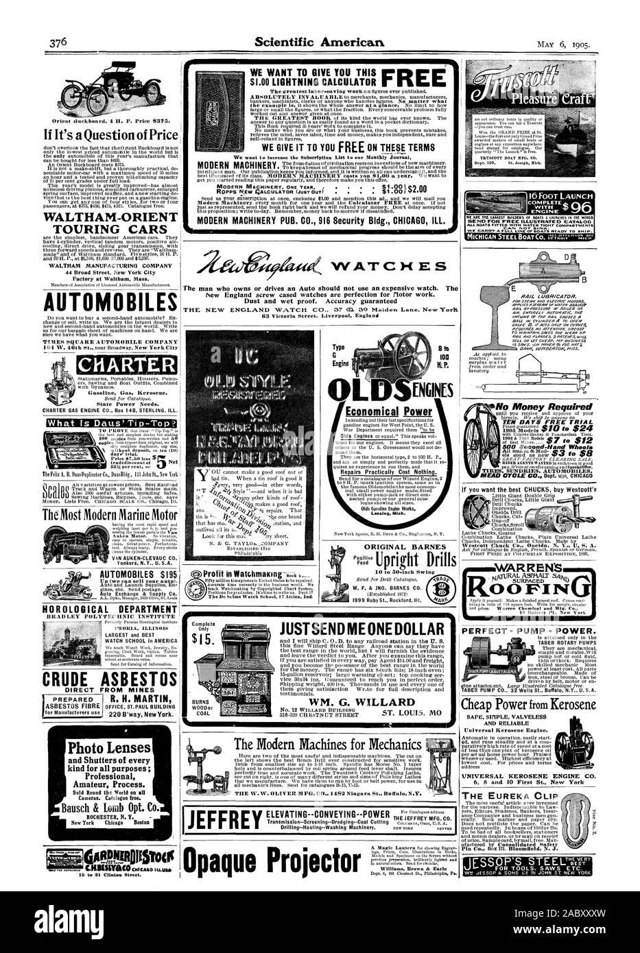 Queremos aumentar la lista de suscripción a nuestra revista mensual de moderna maquinaria de nada ver la escuela 17 Attica Ind reparaciones prácticamente no cuesta nada. logue mostrando todos los tamaños Lansing, Michigan poder económico ORIGINAL W. F. BARNES & JNO. BARNES CO. de 1999 Ruby St. Rockford. III. Proyector opaco I II Las máquinas modernas para la mecánica de la W. W. OLIVER MFG. CO. 1482 Niagara St. Buffal N.Y. Nº 12 WILLARD EDIFICIO ME JUSTSEND UN DÓLAR Williams Brown & Earle Orient tinckboard 4 H. P. el precio de $ 375. Si se trata de una cuestión de precio WALTHAM-ORIENT TURISMOS WALTHAM Manufacturing Company 44 Broad Street Foto de stock