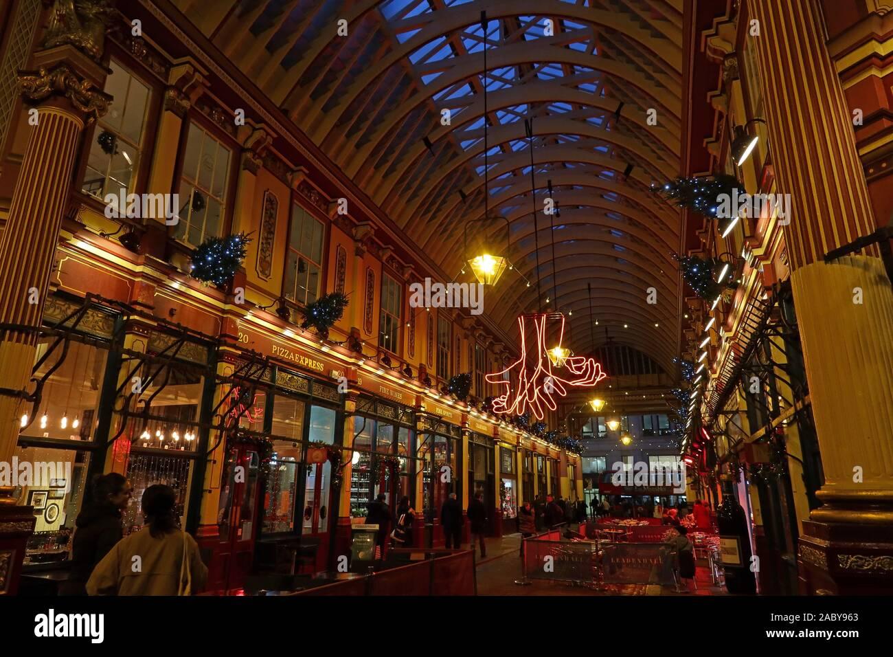 Londres mercado Leadenhall Foto de stock