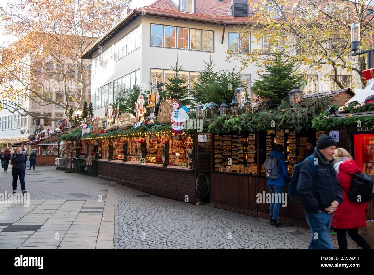 Stuttgart, un mercadillo navideño con mucho encanto Foto de stock