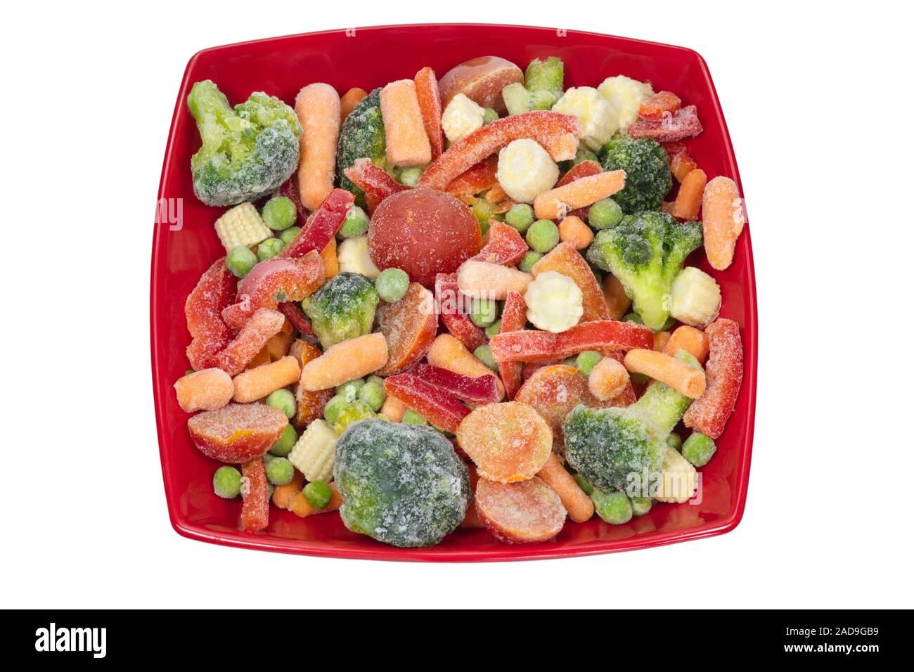 Verduras congeladas. Foto de stock