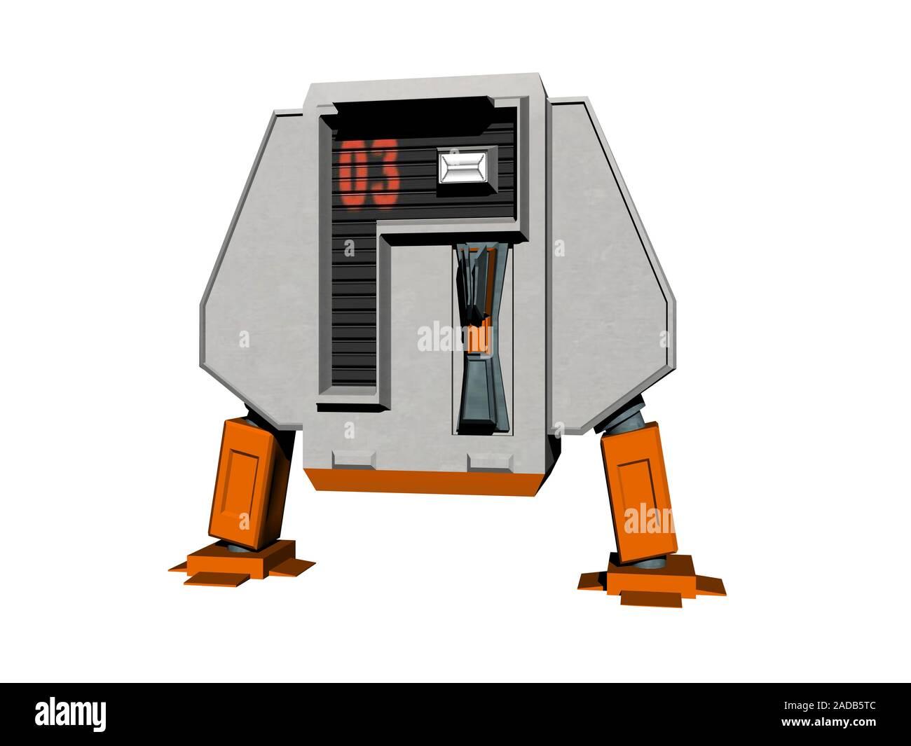 Robot con dos patas cortas Foto de stock