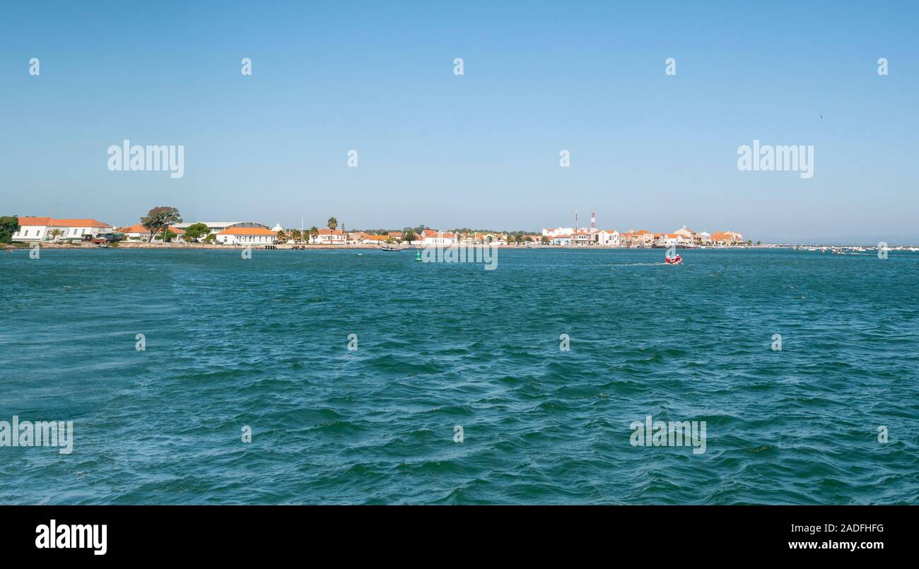 No 2 tropas paracaidistas base operacional o BOPT 2, en la orilla de la laguna de Aveiro en San Jacinto, Portugal Foto de stock