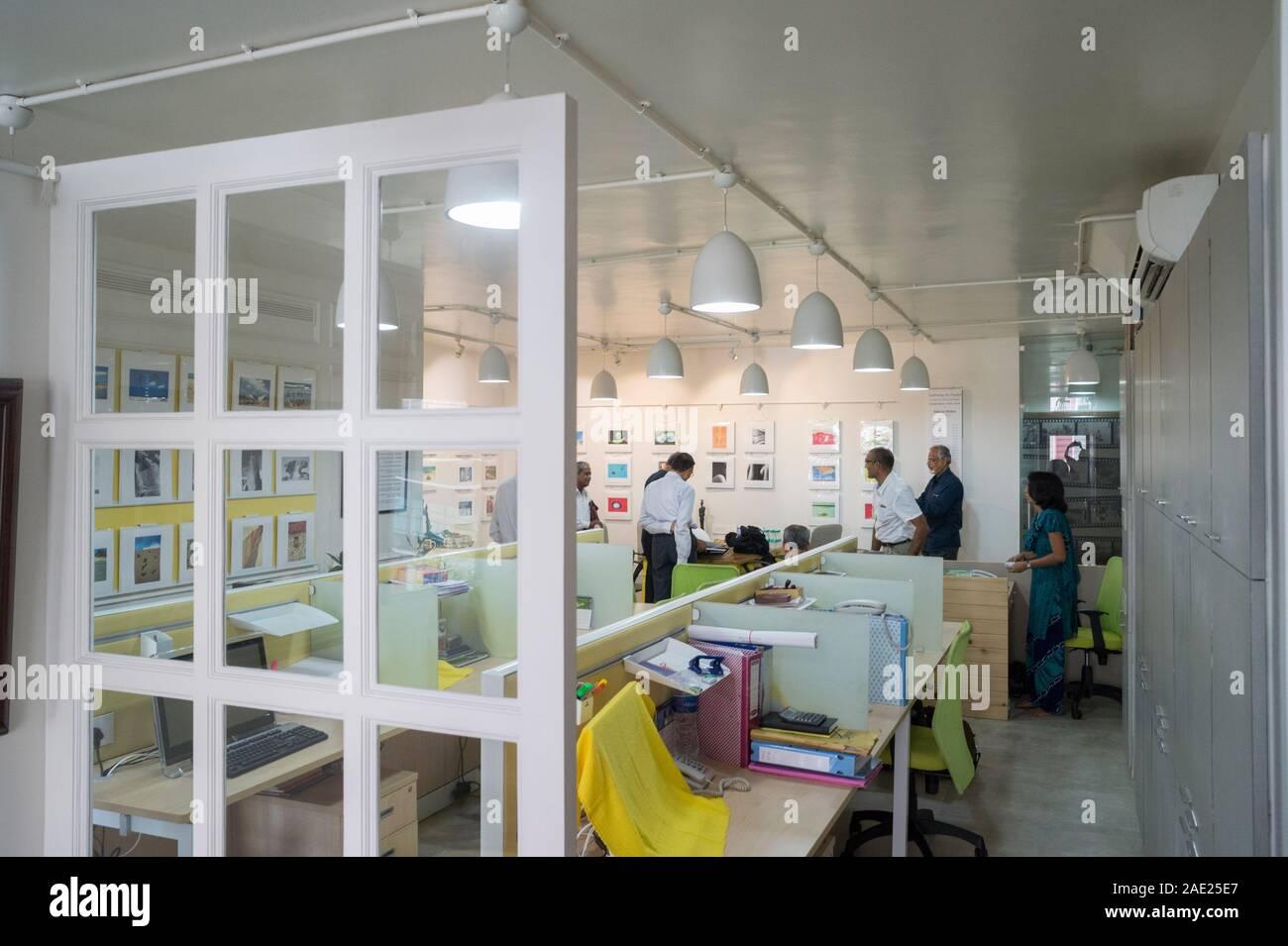 Dinodia Fototeca office, Bombay, Maharashtra, India, Asia Foto de stock