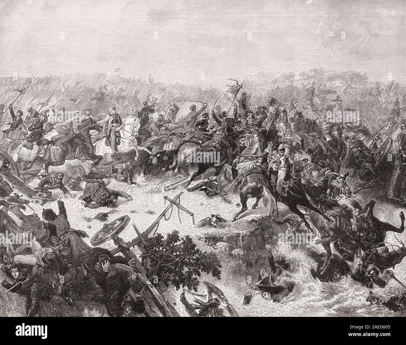 General Gebhard Leberecht von Blücher, Batalla del Katzbach, 26 de agosto de 1813, las guerras napoleónicas Foto de stock